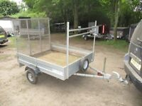 GALVANISED 500KG UNBRAKED 6 X 5 GOODS TRAILER WITH FULL MESH RAMPTAIL.....