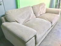 2 SEATER DFS SOFA DEEP COMFORTABLE AND NEUTRAL COLOUR GOOD CONDITION 1 YEAR OLD BARGAIN