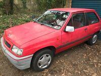 Vauxhall Nova Flair 1196cc Petrol 5 speed Manual 3 door hatchback H Reg 15/02/1991 Red