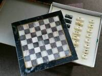 Real marble chess set