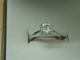 9CT WHITE GOLD 0.95CT DIAMOND SOLITAIRE
