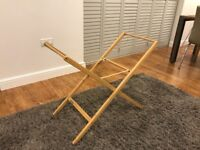 Mamas and Papas Moses Basket Stand Wooden - very good condition