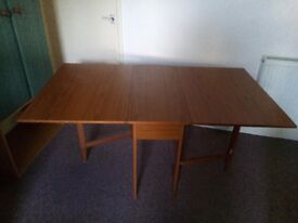 Wardrobe, table, pair of chairs & bedside table