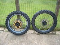 KTM SX wheels - front and rear 19 and 21.