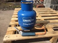 Calor gas torch and bottle