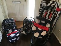 Cosatto Travel System Buggy Stroller Car Seat 3in1 Pram