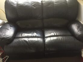 Leather Sofa Reclining 2 Seater!