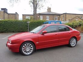 JAGUAR X-TYPE 2.0 SE DIESEL MANUAL ,122000 /SERVICE HISTORY, RED WITH CREAM LEATHER INTERIOR