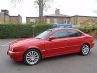 2004 JAGUAR X-TYPE 2.0 SE DIESEL MANUAL ,122000 /SERVICE HISTORY, RED WITH CREAM LEATHER INTERIOR
