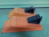Caravan and Motor Home Leveling Ramps with Chocks.