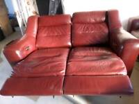 Reclining sofas two-seater and three seater