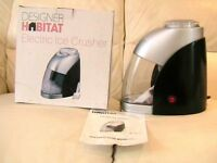 BRAND NEW;HABITAT Electric Ice Crusher & Scoop-Great for Bar- Cocktails/Slushies/Snow Cones-£25.00