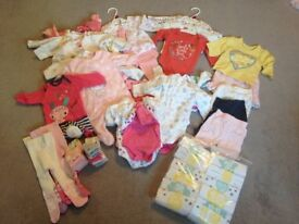 Bundle of Baby Girll clothes NEWBORN