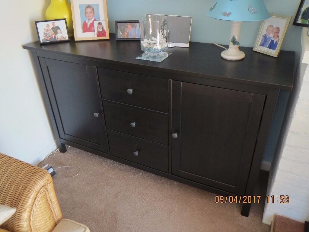 Ikea hemnes sideboard  Ikea Hemnes Sideboard Black/Brown | in Lyndhurst, Hampshire | Gumtree