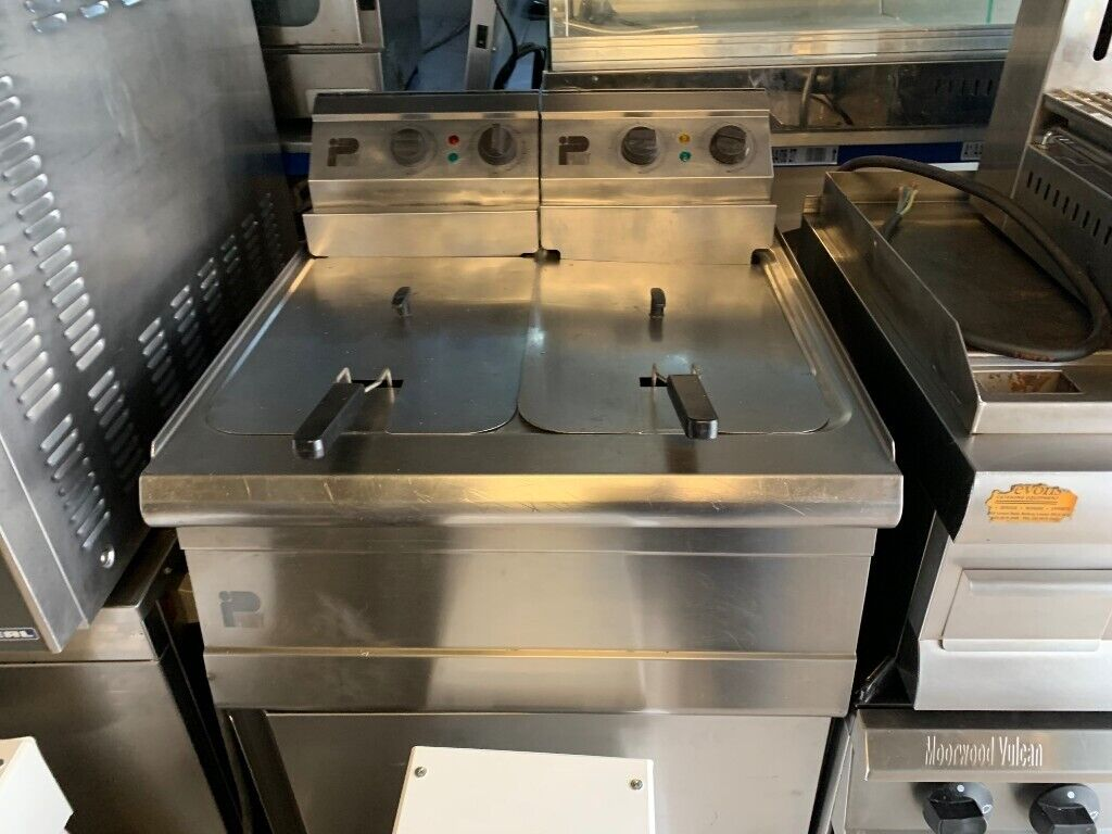Catering commercial kitchen fryer 6 kw x 6 kw cafe kebab bbq restaurant fast food kitchen bar shop