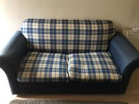 Used blue and cream pattern Sofa Bed