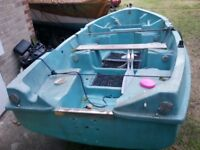 Jeaneau 3.6m unsinkable fishing boat and trailer