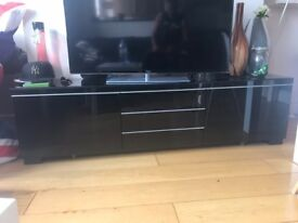 Ikea Black Gloss Besta Burs Tv Stand