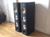 pair of Bowers and Wilkins B&W DM604 S3 floor standing Speakers in Sorrento silver 604 603 605 £400