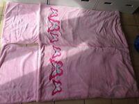 2 Girls indoor sleeping bags
