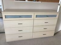 Bedside set of two Drawers and Chest of Drawers John E Coylye - Zenith design 12 drawers in total
