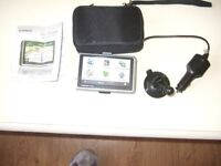 GARMIN SAT NAV WITH ALL ACCESSORIES, CASE AND USER MANUAL