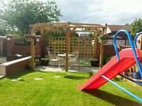 Garden wooden pergola 4m x 2m