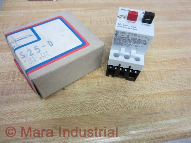 AEG/EEC Controls 910-201-202 Starter MBS25 0.25-0.4A 910-201-202-000 (Pack of 3)