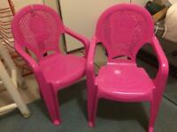 FREE - 2 kids plastic chairs