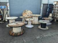 Cable drums ,reels spools various sizes from 600mm up to 1500mm for upcycle