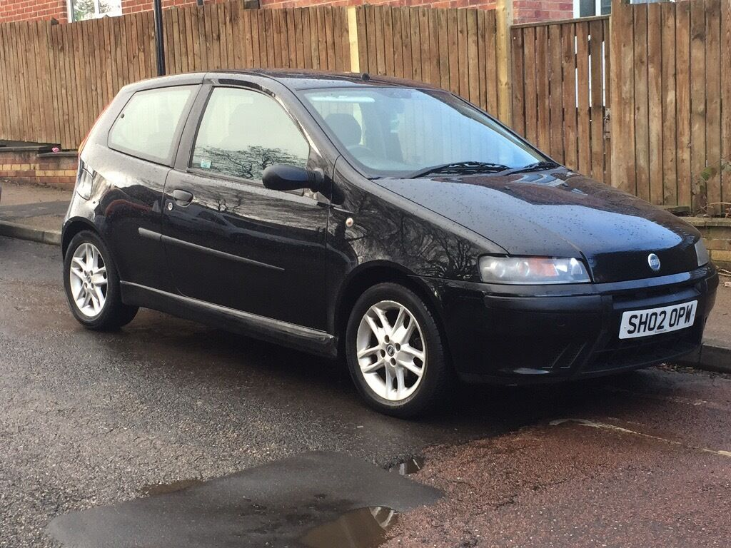 fiat punto sporting 2002 02 1 2 petrol manual black car in sheffield south yorkshire gumtree. Black Bedroom Furniture Sets. Home Design Ideas