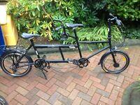 Folding ECOSMO tandem bike for sale BRAND NEW £220