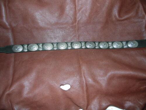 Vintage Billy Belts Black Concho Style Leather Belt size 32