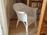 White basket chair(Lloyd loom style)