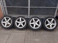 """17"""" Inch Honda Civic alloy wheels with tyres"""