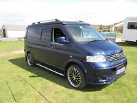 VW Transporter T5 Camper 4 Berth A/C, E/W, 1.9 (140ps) 64,000 miles FSH, 5 speed, Immaculate