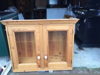 Two Solid Pine Kitchen Wall Cabinets