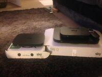 Sky Q silver box, & router