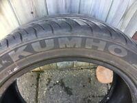2 x 225/45 ZRF17 Kumho run flat tyres