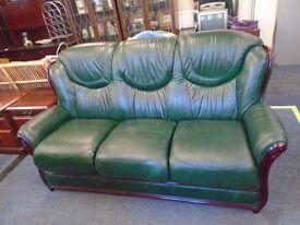 green 3 seat sofa.