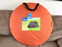 Halfords 2 man pop up tent with camping chair