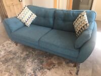 DFS French Connection zinc Express 3 seater sofa.