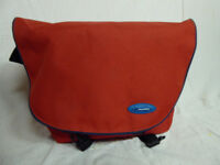 Swordfish courier-style camera bag (unused) in red; shoulder strap; padded interior