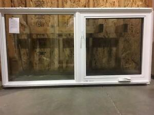 "White Left Casement / Picture 60""x 30"" Vinyl Window"