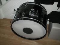 Drum kit with many extras