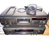TECHNICS SA-EX300 top end Cinema Amp + TECHNICS RS-AZ6 3-HEAD CASSETTE DECK (exc condition) £215