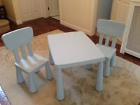Set of table and two chairs perfect for indoor/outdoor use