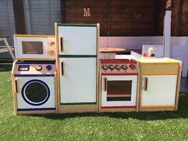 Childrens Solid Wooden Kitchen Toy