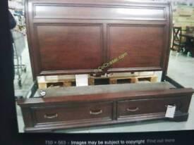 Oak king storage Bed + delivery