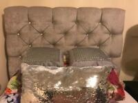 Silver Crystal Single Bed - fab condition.
